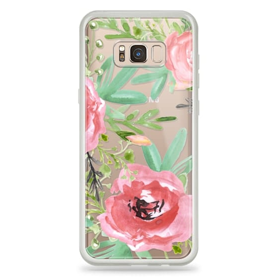 Samsung Galaxy S8 Plus Cases - Red flowers. Watercolor