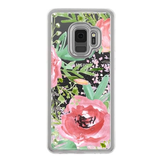 Samsung Galaxy S9 Cases - Red flowers. Watercolor