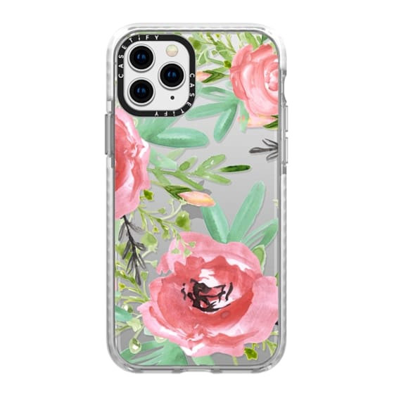 iPhone 11 Pro Cases - Red flowers. Watercolor