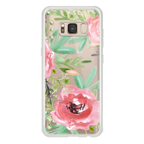 Samsung Galaxy S8 Cases - Red flowers. Watercolor