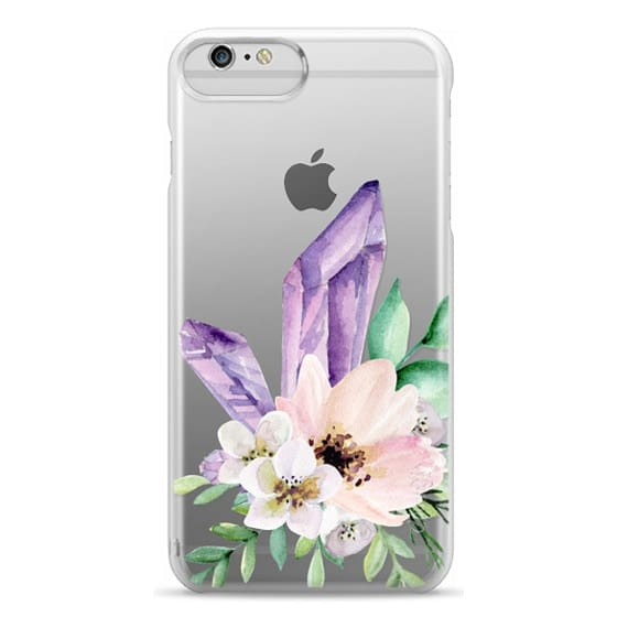 iPhone 6 Plus Cases - Crystals and flowers. Watercolor