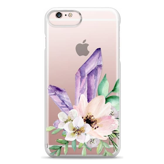 iPhone 6s Plus Cases - Crystals and flowers. Watercolor