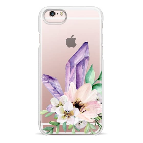 iPhone 6s Cases - Crystals and flowers. Watercolor