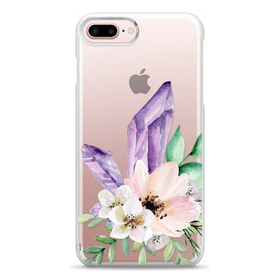iPhone 7 Plus Cases - Crystals and flowers. Watercolor