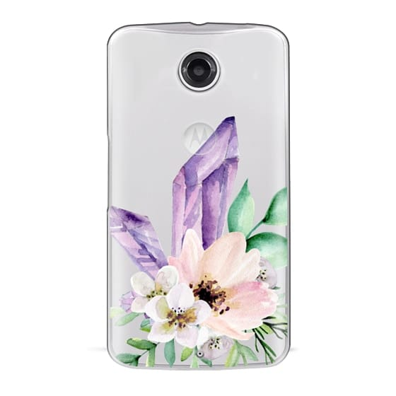 Nexus 6 Cases - Crystals and flowers. Watercolor