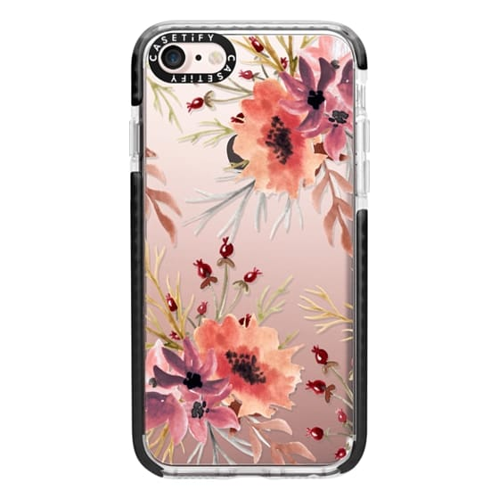 iPhone 7 Cases - Autumn flowers- Watercolor