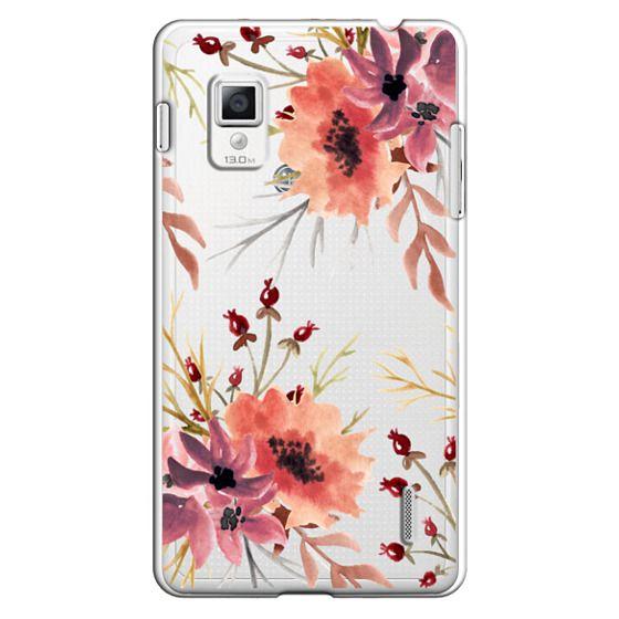 Optimus G Cases - Autumn flowers- Watercolor