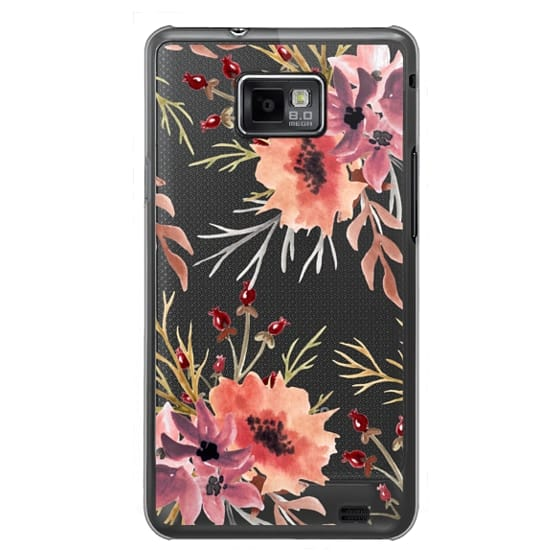Samsung Galaxy S2 Cases - Autumn flowers- Watercolor
