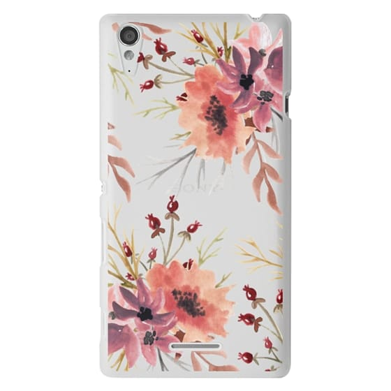 Sony T3 Cases - Autumn flowers- Watercolor
