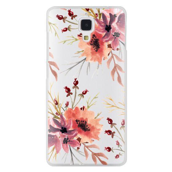 Xiaomi 4 Cases - Autumn flowers- Watercolor