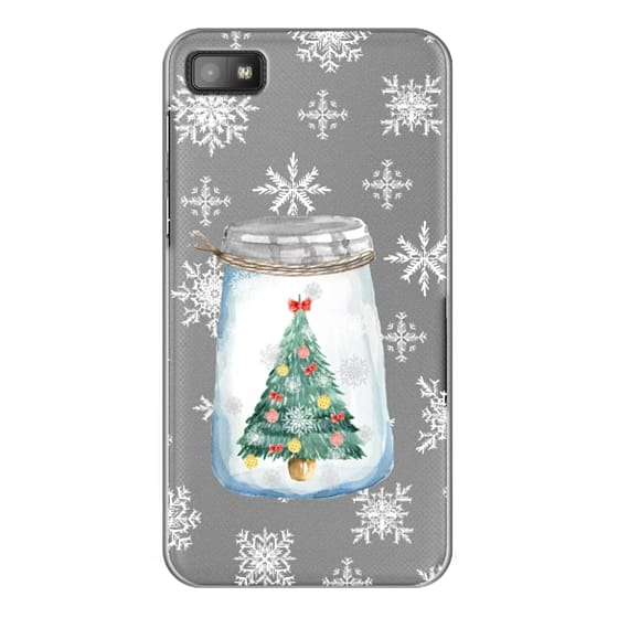 Blackberry Z10 Cases - Christmas glass jar with tree