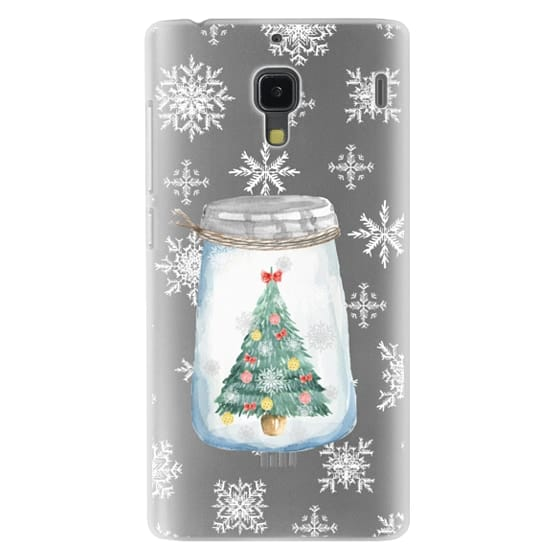 Redmi 1s Cases - Christmas glass jar with tree