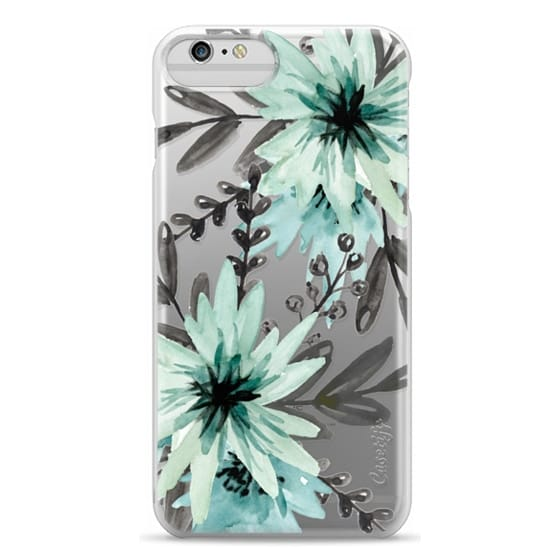 iPhone 6 Plus Cases - Blue asters. Watercolor