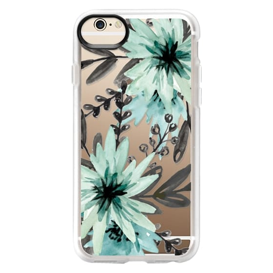 iPhone 6 Cases - Blue asters. Watercolor