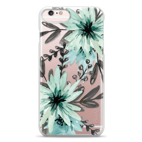 iPhone 6s Plus Cases - Blue asters. Watercolor