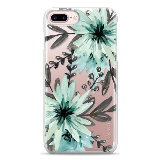 iPhone 7 Plus Cases - Blue asters. Watercolor