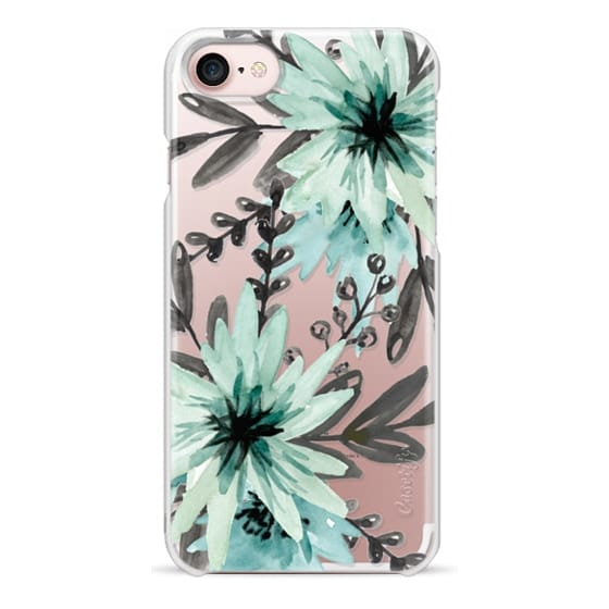 iPhone 7 Cases - Blue asters. Watercolor