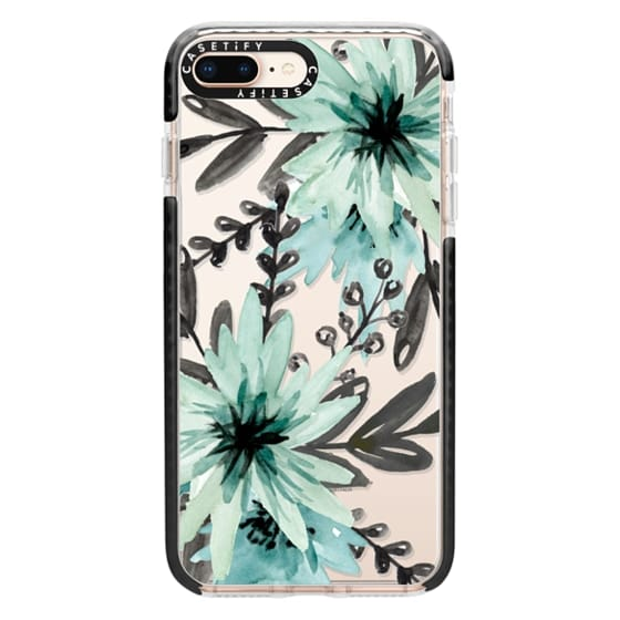 iPhone 8 Plus Cases - Blue asters. Watercolor