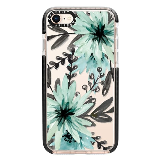iPhone 8 Cases - Blue asters. Watercolor