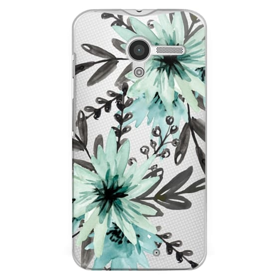 Moto X Cases - Blue asters. Watercolor