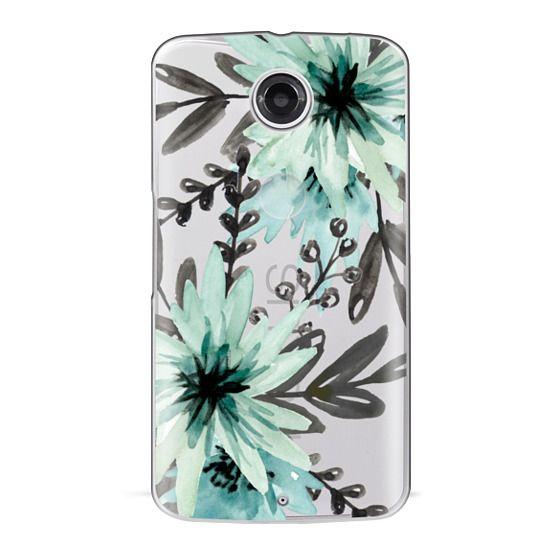 Nexus 6 Cases - Blue asters. Watercolor