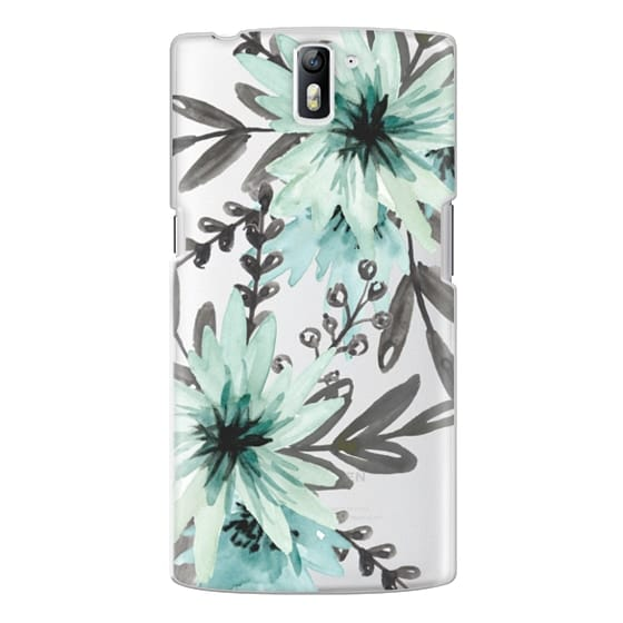 One Plus One Cases - Blue asters. Watercolor