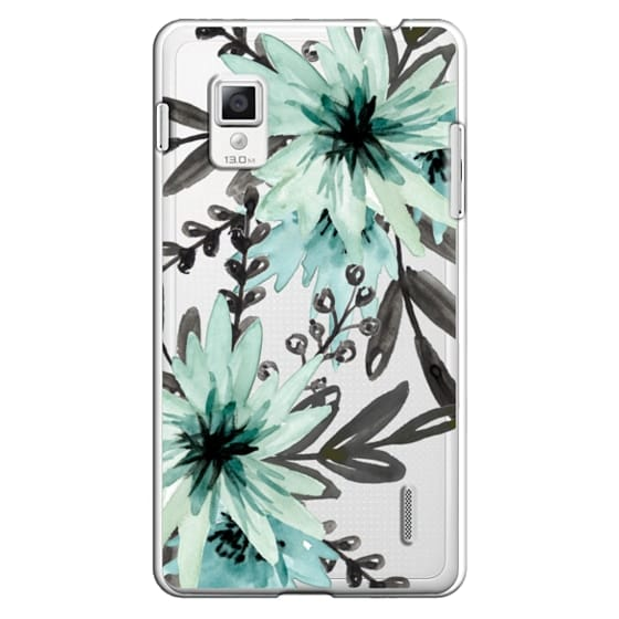 Optimus G Cases - Blue asters. Watercolor