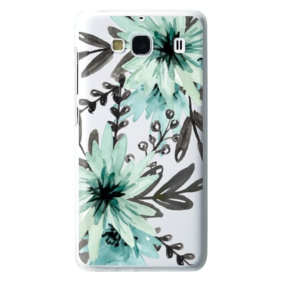 Redmi 2 Cases - Blue asters. Watercolor