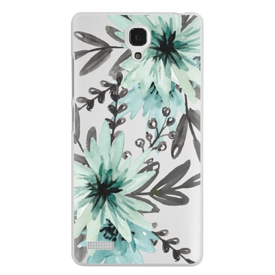 Redmi Note Cases - Blue asters. Watercolor