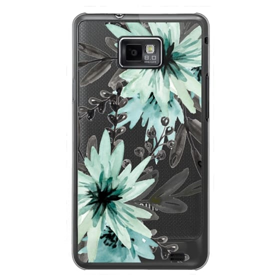 Samsung Galaxy S2 Cases - Blue asters. Watercolor