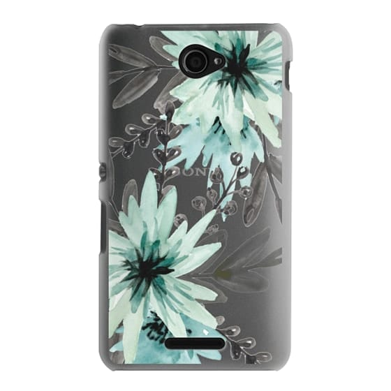 Sony E4 Cases - Blue asters. Watercolor