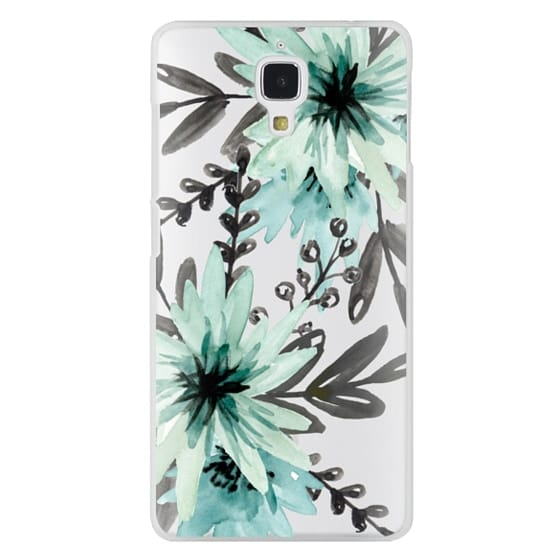 Xiaomi 4 Cases - Blue asters. Watercolor