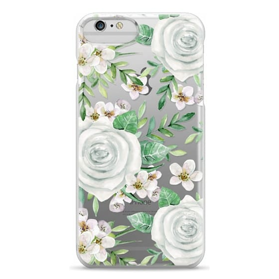 iPhone 6 Plus Cases - White roses. Watercolor pattern
