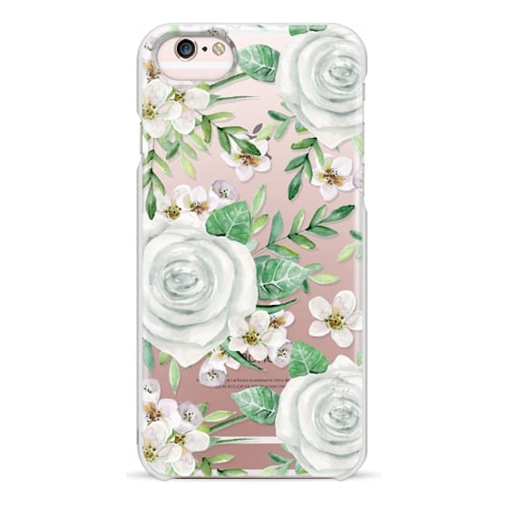iPhone 6s Cases - White roses. Watercolor pattern