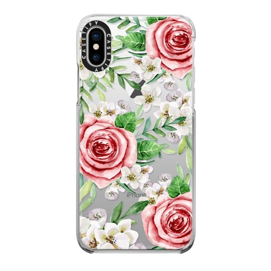iPhone X Cases - Red roses. Watercolor.
