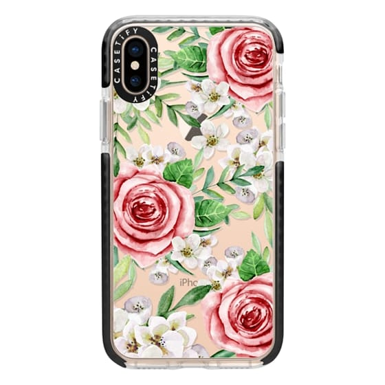 iPhone XS Cases - Red roses. Watercolor.