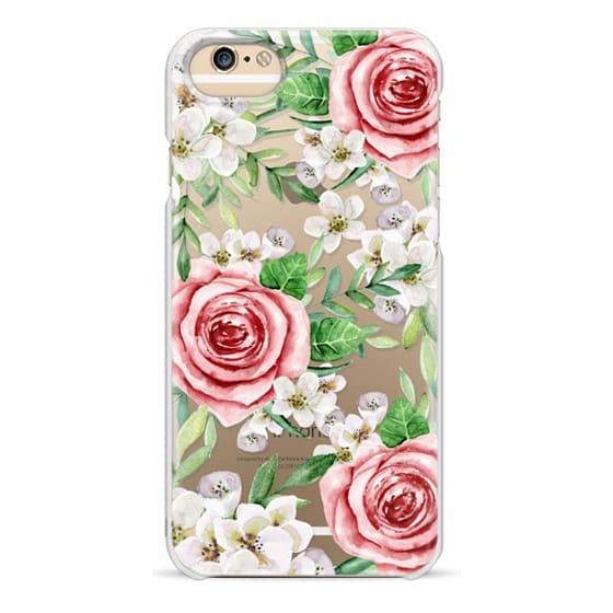 iPhone 4 Cases - Red roses. Watercolor.