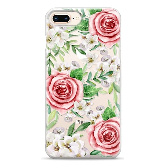 iPhone 8 Plus Cases - Red roses. Watercolor.