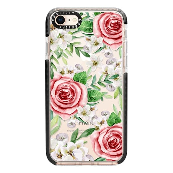 iPhone 8 Cases - Red roses. Watercolor.