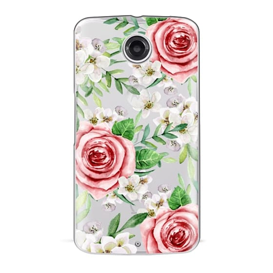 Nexus 6 Cases - Red roses. Watercolor.