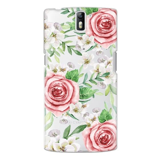 One Plus One Cases - Red roses. Watercolor.