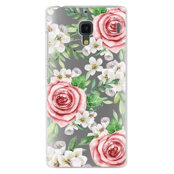 Redmi 1s Cases - Red roses. Watercolor.