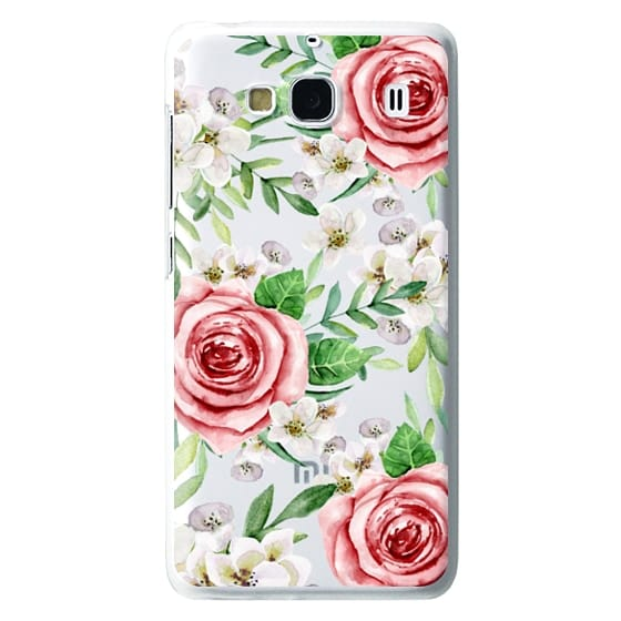 Redmi 2 Cases - Red roses. Watercolor.