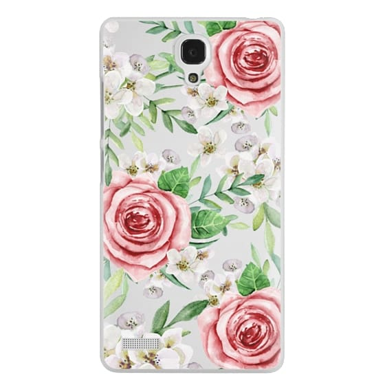 Redmi Note Cases - Red roses. Watercolor.