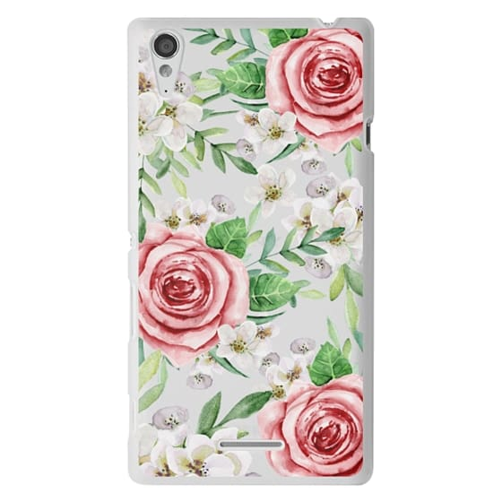 Sony T3 Cases - Red roses. Watercolor.