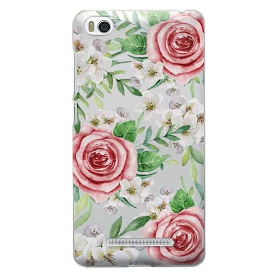 Xiaomi 4i Cases - Red roses. Watercolor.