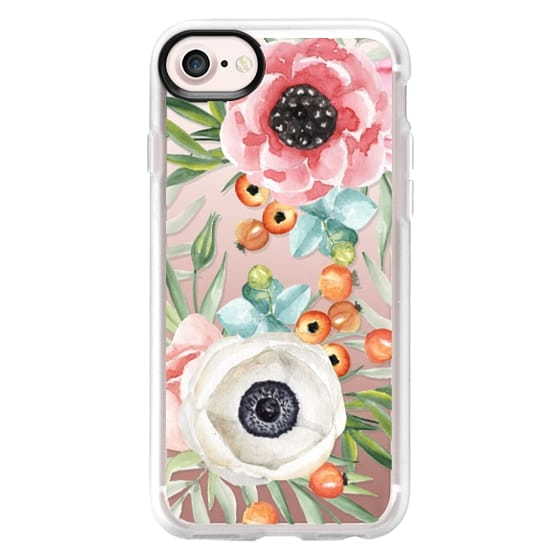 iPhone 4 Cases - Watercolor flowers and berries
