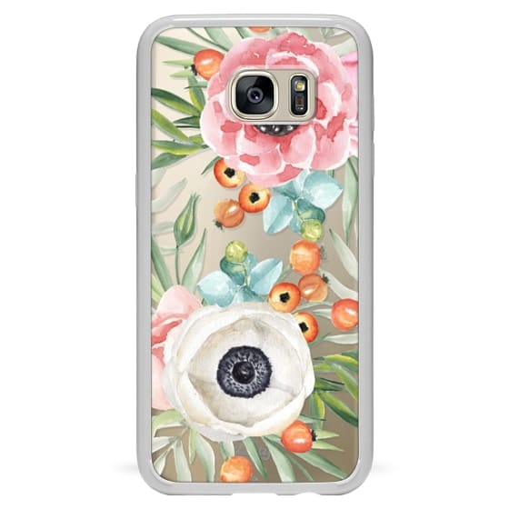 Samsung Galaxy S7 Edge Cases - Watercolor flowers and berries