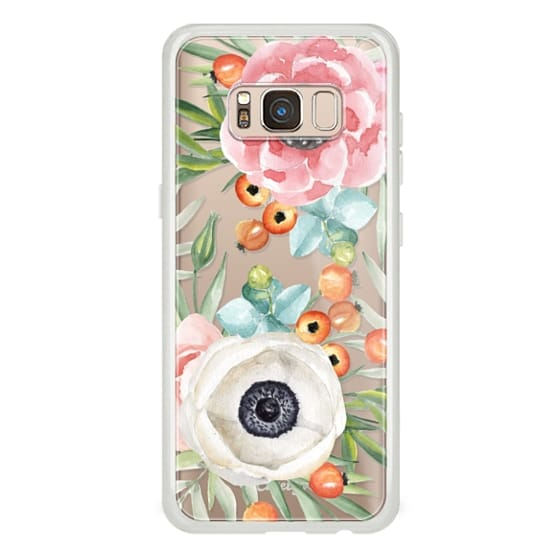 Samsung Galaxy S8 Cases - Watercolor flowers and berries