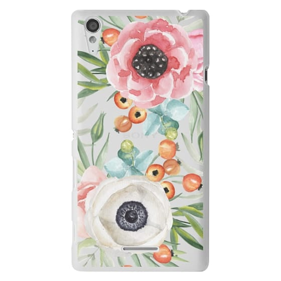 Sony T3 Cases - Watercolor flowers and berries